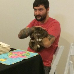 Lil BUB and Mike