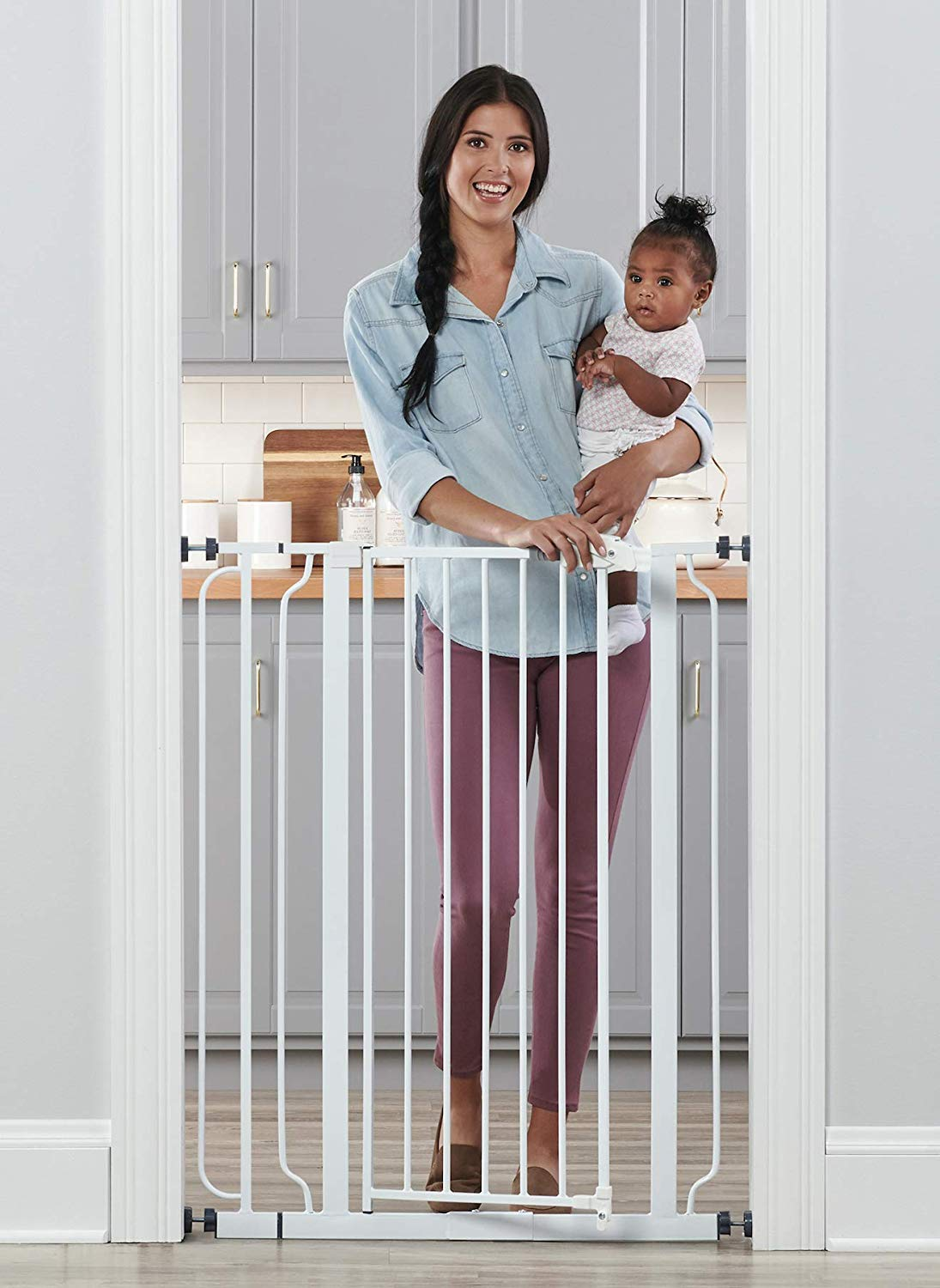 Tall Baby Gate with Walk-Through (Regalo) Image